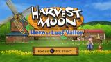 Harvest Moon: Hero of Leaf Valley PSP Title screen