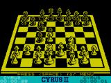 Cyrus II Chess ZX Spectrum The Board (128k)