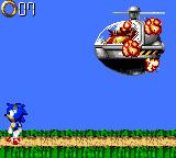 Sonic Blast Game Gear Sonic comes to have a go and smashes his helicopter