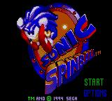 Sonic the Hedgehog: Spinball Game Gear Title