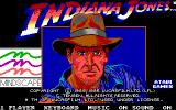 Indiana Jones and the Temple of Doom DOS Title screen (EGA)