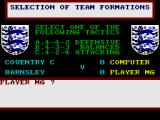F.A. Cup Football ZX Spectrum Select a formation