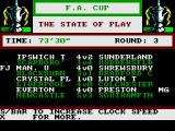 F.A. Cup Football ZX Spectrum Coming to the end of the game