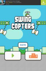 Swing Copters Android Main menu
