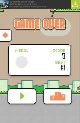 Swing Copters Android Game over