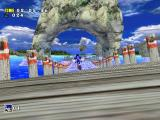 Sonic Adventure DX (Director's Cut) Windows Running on a swinging dock.