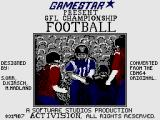 GFL Championship Football ZX Spectrum Loading Screen
