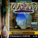 .hack//MUTATION - Part 2 PlayStation 2 The login screen for 'The World'
