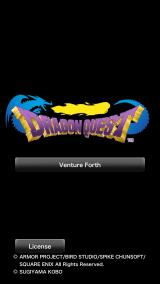 Dragon Quest iPhone Title screen.