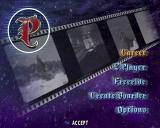 The game's main menu
