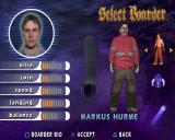 Shaun Palmer's Pro Snowboarder PlayStation 2 There are many boarders available within the game, these can be selected, customised and used