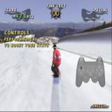 Shaun Palmer's Pro Snowboarder PlayStation 2 This is a Freeslide so the time at the top of the screen shows the run is unlimited.
