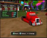 RC Revenge Pro PlayStation 2 At the start of a race the player must select their vehicle. 