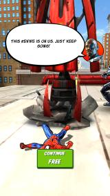 Spider-Man Unlimited Android Didn't manage to avoid that obstacle.