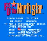 Fist of the North Star NES Title screen