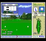 Harukanaru Augusta SNES First hole, upper left shows the stance