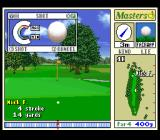 Harukanaru Augusta SNES Closer to the hole, shortly before hitting the ball