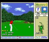 Harukanaru Augusta SNES Fourth hole, here you see the golfer's actual sprite
