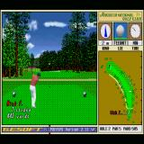 Harukanaru Augusta Sharp X68000 Second hole, taking a swing