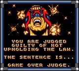 Judge Dredd Game Gear Game over