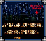 Judge Dredd Game Gear First mission objectives