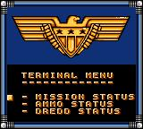 Judge Dredd Game Gear Check you mission stats