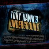 Tony Hawk's Underground PlayStation 2 The game's title screen. This is followed by developer logos and an arty video montage