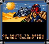 Judge Dredd Game Gear You crash in the desert of the cursed earth