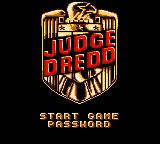 Judge Dredd Game Gear Title screen