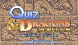 Quiz & Dragons Arcade Title Screen