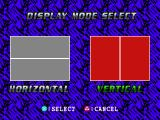 Peak Performance PlayStation 1P vs 2P. Display mode select.