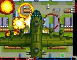 Tank Force Arcade Pick up the bomb attack power-up and a giant aeroplane will fly over the stage and kill every enemy on the screen