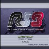 RS3: Racing Simulation Three PlayStation 2 The game's main menu and title screen follows an animated video montage