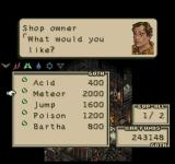 Tactics Ogre  PlayStation Shopping for some spells