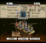 Tactics Ogre  PlayStation Before battle, you have to choose the characters to be deployed