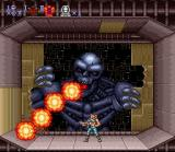 Contra III: The Alien Wars SNES The final boss of level 3