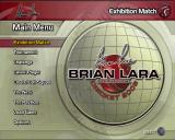 Brian Lara International Cricket 2005 PlayStation 2 The game's main menu