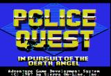 Police Quest: In Pursuit of the Death Angel Apple II Title screen.