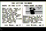 Police Quest: In Pursuit of the Death Angel Apple II Reading the newspaper.