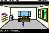 Police Quest: In Pursuit of the Death Angel Apple II Morgan's office.