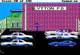 Police Quest: In Pursuit of the Death Angel Apple II Lytton P. D. parking lot.