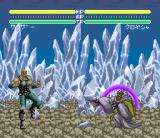 Hokuto no Ken 6: Gekitō Denshōken Haō e no Michi SNES On icy level, my opponent tried something nasty