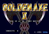 Golden Axe II Arcade Title screen (Mega Play Version)