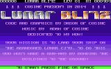 Lunar Blitz Atari 8-bit Title screen