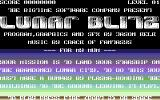 Lunar Blitz Commodore 64 Title screen