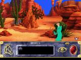 Roberta Williams' King's Quest VII: The Princeless Bride DOS Each chapter begins with a cutscene. Note the nice animation as Her Majesty's dress is caught in a thorny cactus