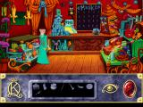Roberta Williams' King's Quest VII: The Princeless Bride DOS Another day, another shop - look how much stuff he is selling! Check out the rubber chickens on the wall