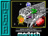 W.A.R ZX Spectrum Loading Screen