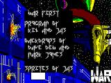 W.A.R ZX Spectrum Title Screen