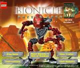 BIONICLE: Battle Zone Browser Title screen.